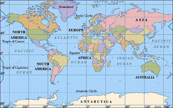 Australia countries of the world as you can see australia is in the bottom right hand corner thats how we got our name the land down under gumiabroncs Gallery