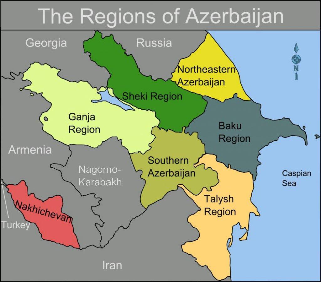 True Maps Of Azerbaijan Countries Of The World Azerbaijan - Azerbaijan maps with countries