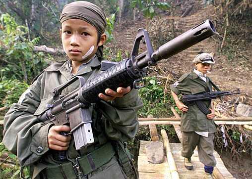 La guerre et les enfants soldats