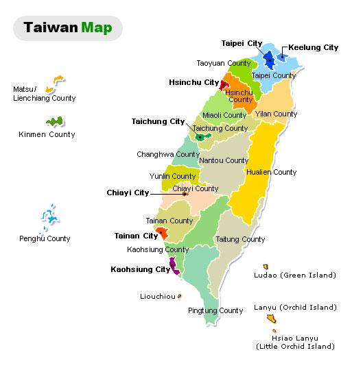 Sabavon Taiwan City Map - Map of taiwan