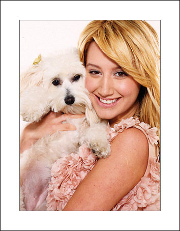 The pooch is named Blondie isn't it.. Others - Ashley Tisdale