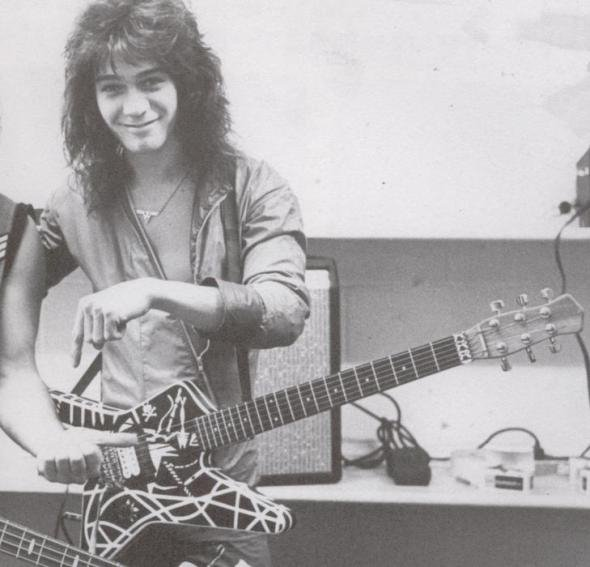 He s got a cute smile on this  Eddie Van Halen Young