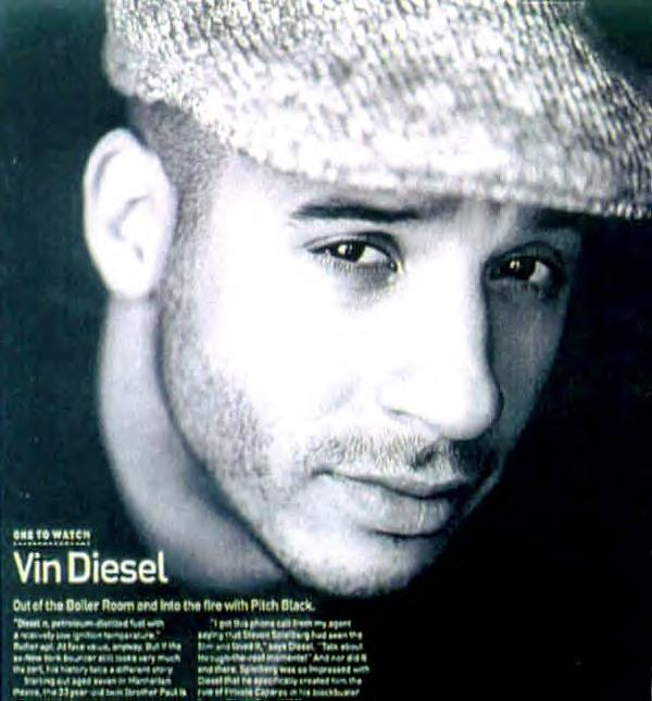 Vin Diesel's biography, the beginning. As quoted from Lilith from www